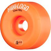 Mini Logo Skateboard Wheels A-cut 53mm 101A Orange 4pk