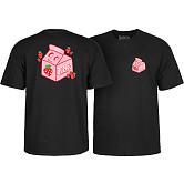 BONES WHEELS Pro Lizzie Spilt Milk T-shirt Black