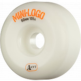 Mini Logo Skateboard Wheels A-cut 60mm 101A White 4pk