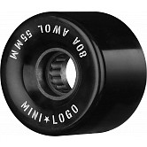 Mini Logo AWOL Skateboard Wheels 55mm 80A Black 4pk