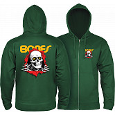 Powell Peralta Ripper Hooded Zip Sweatshirt - Alpine Green