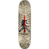 Powell Peralta Skull and Sword Skateboard Deck Gray/Nat 244 K20 - 8.5 x 32.08