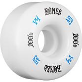 BONES WHEELS 100 Skateboard Wheels V4 Wide 100A 4pk