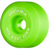 "Mini Logo Skateboard Wheels A-cut ""2"" 52mm 101A Green 4pk"