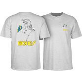 Powell Peralta Skateboarding Skeleton T-shirt - Athletic Heather Gray