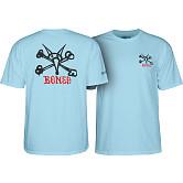 Powell Peralta Rat Bones T-shirt - Powder Blue