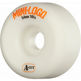 Mini Logo Skateboard Wheels A-cut 54mm 101A White 4pk
