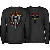 Powell Peralta Mike Vallely Elephant Midweight Crewneck Sweatshirt - Black