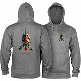 Powell Peralta Skull & Sword Mid Weight Hooded Sweatshirt - Gunmetal Heather