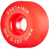 "Mini Logo Skateboard Wheels C-cut ""2"" 54mm 101A Red 4pk"