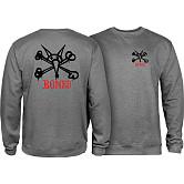 Powell Peralta Rat Bones Midweight Crewneck Sweatshirt - Gunmetal Heather