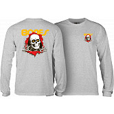 Powell Peralta Ripper L/S T-shirt - Athletic Heather Gray