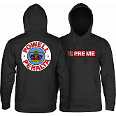 Powell Peralta Supreme Hooded Sweatshirt mid weigh Black