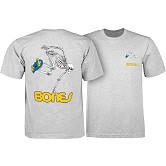 Powell Peralta Skateboarding Skeleton YOUTH T-shirt - Athletic Heather Gray