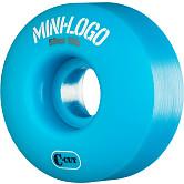 Mini Logo Skateboard Wheels C-cut 53mm 101A Blue 4pk