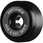 "Mini Logo Skateboard Wheels A-cut ""2"" 58mm 101A Black 4pk"