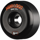 Mini Logo Skateboard Wheels A-cut 58mm 101A Black 4pk