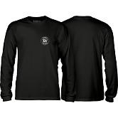 BONES WHEELS Branded L/S T-shirt Black