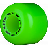 Powell Peralta Mini-Cubic Skateboard Wheels 64mm 95a - Green (4 pack)