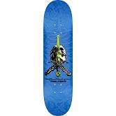 Powell Peralta Rodriguez Skull And Sword Blem Skateboard Deck Blue - Shape 242 - 8 x 31.45