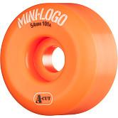 Mini Logo Skateboard Wheels A-cut 54mm 101A Orange 4pk
