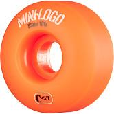 Mini Logo Skateboard Wheels C-cut 53mm 101A Orange 4pk