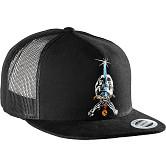 Powell Peralta Skull And Sword Trucker Cap - Black