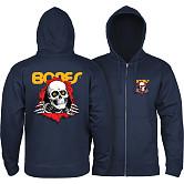 Powell Peralta Ripper Hooded Zip Sweatshirt - Navy
