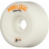 Mini Logo Skateboard Wheels A-cut 55mm 101A White 4pk