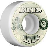 BONES 100's OG Formula 54x34 V4 Skateboard Wheel 100a 4pk