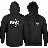 BONES WHEELS Diamond Sweatshirt Hooded Black