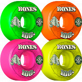 BONES 100's OG Formula 53x34 V1 Skateboard Wheel 100a 4pk Asstd