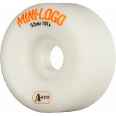 Mini Logo Skateboard Wheels A-cut 53mm 101A White 4pk