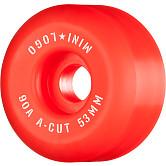 """Mini Logo Skateboard Wheels A-cut """"2"""" 53mm 90A Red 4pk"""