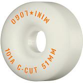 "Mini Logo Skateboard Wheels C-cut ""2"" 51mm 101A White 4pk"
