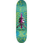 Powell Peralta Skull & Sword Skateboard Deck Blue Green - Shape 243 - 8.25 x 31.95