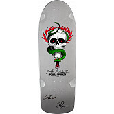 Bones Brigade McGill Blem Skateboard Deck Silver - Signed by George and Stacy