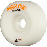 Mini Logo Skateboard Wheels A-cut 56mm 101A White 4pk