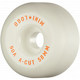 "Mini Logo Skateboard Wheels A-cut ""2"" 58mm 90A White 4pk"