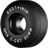 "Mini Logo Skateboard Wheels C-cut ""2"" 53mm 101A Black 4pk"