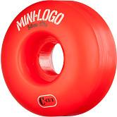 Mini Logo Skateboard Wheels C-cut 54mm 101A Red 4pk