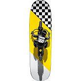 Powell Peralta Caballero Flat Track Skateboard Blem Deck Funshape 203B K21 Yellow - 8.7 x 31.72