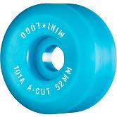 """Mini Logo Skateboard Wheels A-cut """"2"""" 52mm 101A Blue 4pk"""