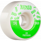 BONES WHEELS OG Formula Skateboard Wheels 100 #13 54mm V4 Wide 4pk White