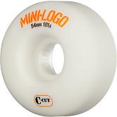 Mini Logo Skateboard Wheels C-cut 54mm 101A White 4pk