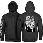 BONES WHEELS Night Shift Hooded Sweatshirt - Black