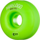 Mini Logo Skateboard Wheels C-cut 54mm 101A Green 4pk