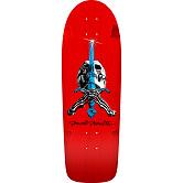 Powell Peralta OG Rodriguez Skull and Sword Skateboard Deck Red - 10 x 30