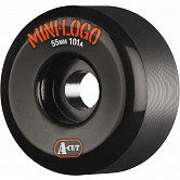 Mini Logo Skateboard Wheels A-cut 55mm 101A Black 4pk