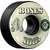 BONES 100's OG Formula 55x34 V4 Skateboard Wheel 100a 4pk Black